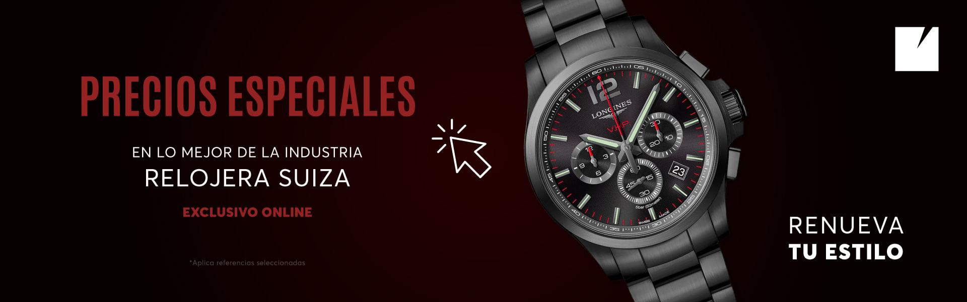 Precios especiales en Relojes Suizos