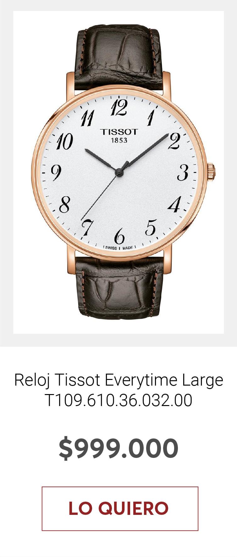 Reloj Tissot Everytime Large T109.610.36.032.00