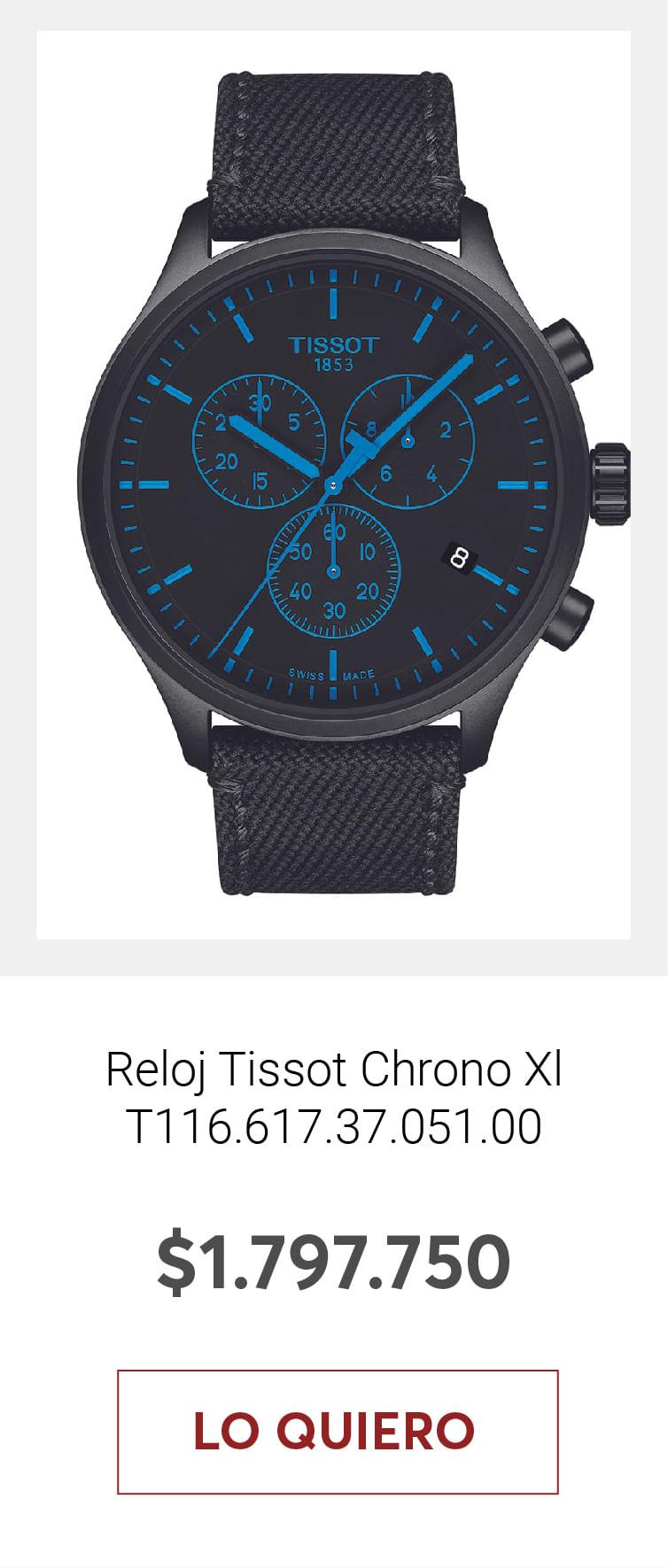 Reloj Tissot Chrono Xl T116.617.37.051.00