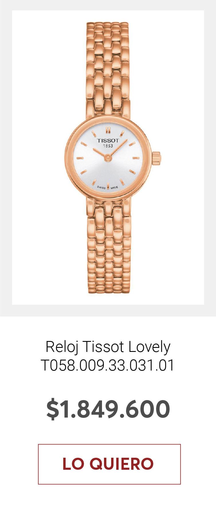 Reloj Tissot Lovely T058.009.33.031.01