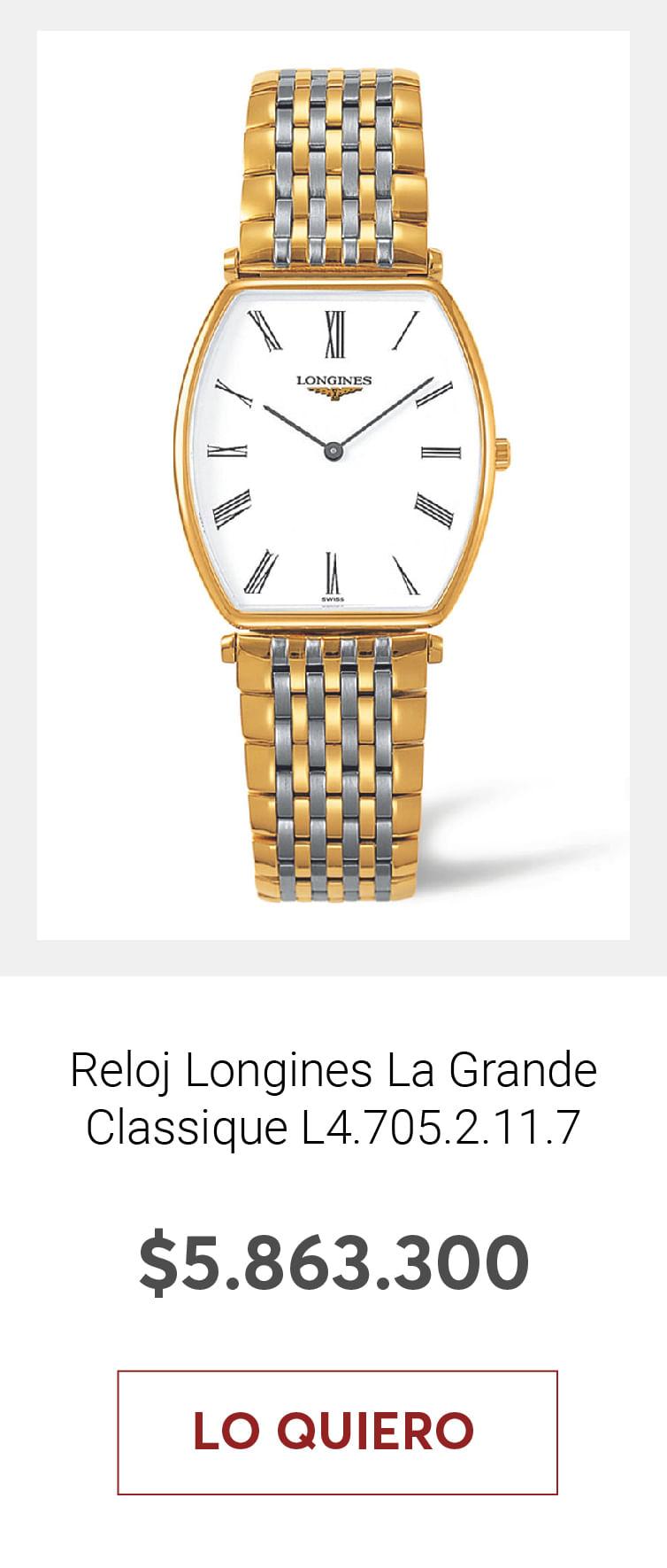Reloj Longines La Grande Classique de Longines Tonneau L4.705.2.11.7